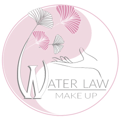 Logo Water Law Make Up in rosa cenere