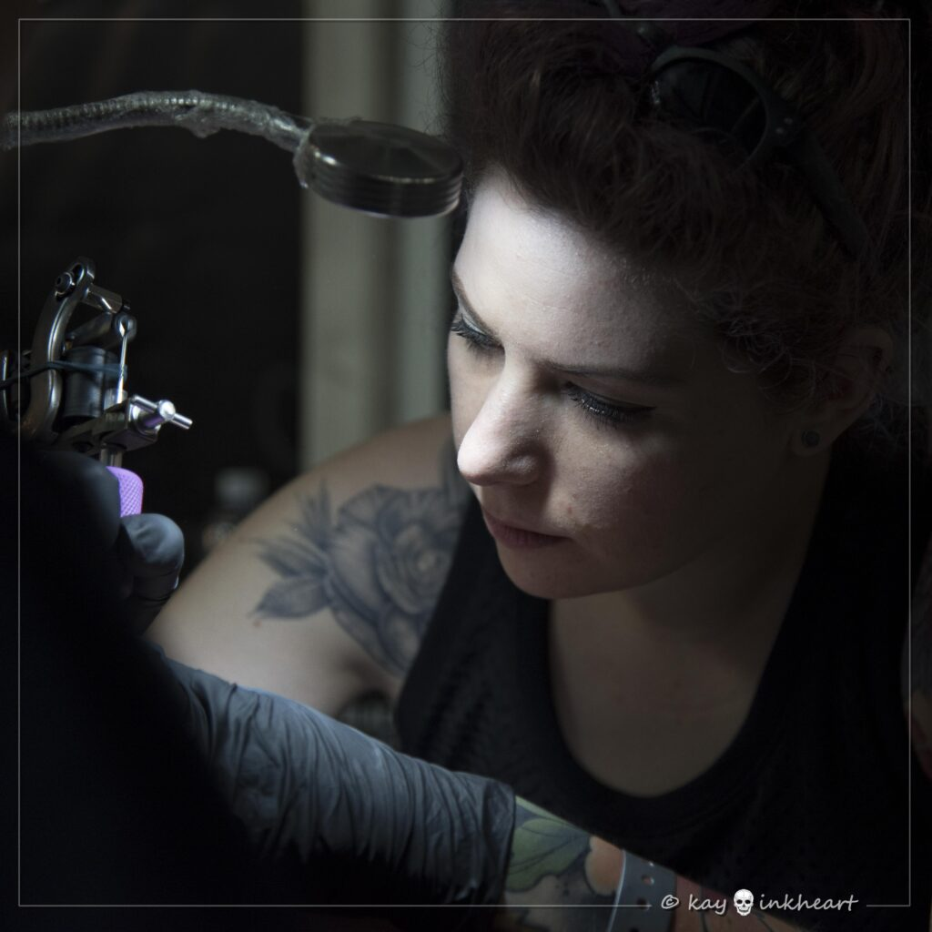 "Alice ""Candy"", Water Law Tattoo Pro Team"