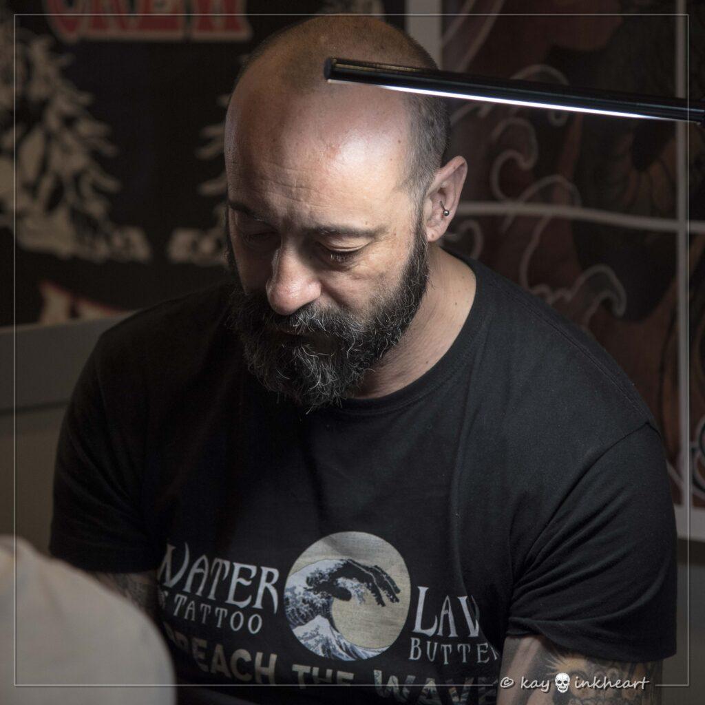 """Andrea """"Padox"""", Water Law Tattoo Pro Team"""
